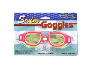 Leak-Proof Adjustable Swim Goggles