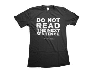 Humorous Black Do Not Read T-Shirt