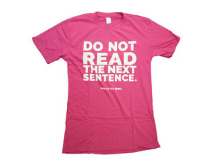 Humorous Pink Do Not Read T-Shirt