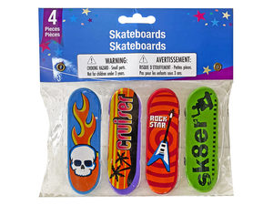 Wholesale: 4 pack toy finger skateboards