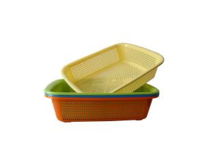 Wholesale: Oblong plastic basket, assorted colors