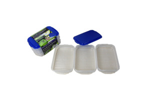 Plastic container set, pack of 3