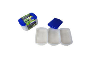 Plastic storage container set, pack of 3