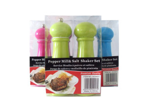 Wholesale: Salt and pepper mill set, assorted colors