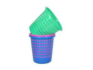 Wholesale: Oval plastic trash can, assorted colors