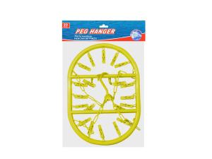 Wholesale: Peg clothes hanger, 20 pegs
