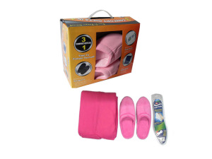 Slipper & Blanket Set