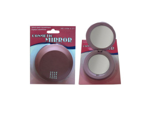 Cosmetic folding mirror compact