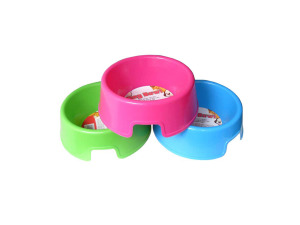 Wholesale: Dog bowl in assorted bright colors