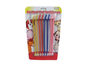 Wholesale: Dual-end pet toothbrush, pack of 8