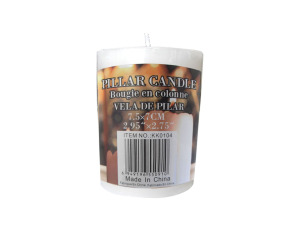 Wholesale: Short pillar candle, 20 hours