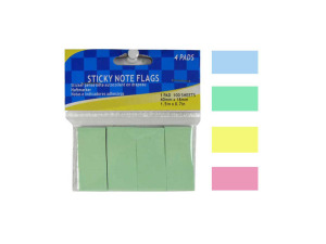 Wholesale: Sticky note flags, 4 pads in one color