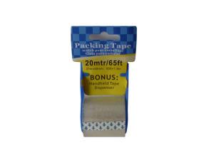 Wholesale: Packing tape, 65 feet with bonus tape dispenser