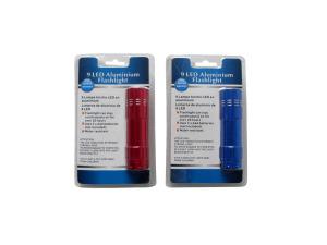 Wholesale: Flashlight with 9 LEDs