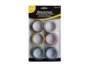 Wholesale: Electrical tape, assorted colors, pack of 6