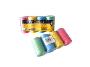 Wholesale: Colored twine, 4 rolls, 54 yards