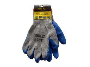Garden gloves, 2 pack, with latex grip