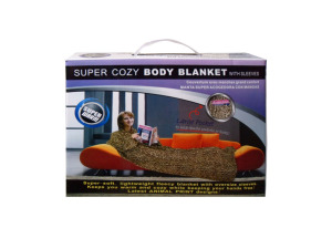Animal Print Body Blanket With Sleeves