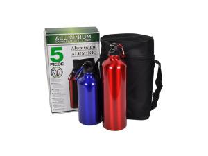 Aluminum camping bottle set, 5 pieces