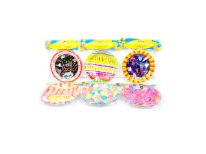 Wholesale: Birthday party plates, 12 pack