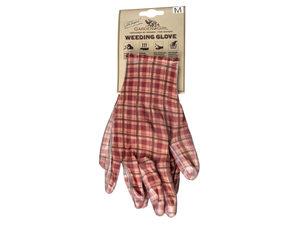 Wholesale: Classic Plaid Brown Weeding Gloves Women's Size Medium