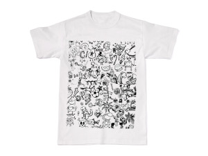 Fruit Of The Loom Doodle Pop Adult Small Tshirt