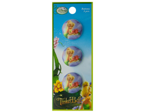 Wholesale: 3pc tinkerbell buttons