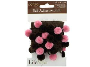 Wholesale: Pink & Brown Self Adhesive Decorative Trim