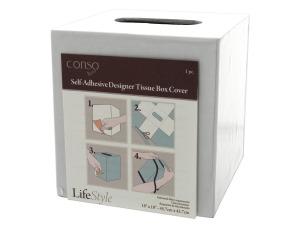 Conso 18x18 Self Adhesive Designer Tissue Box Cover