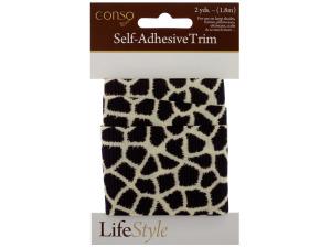 Wholesale: Self Adhesive Giraffe Print Trim