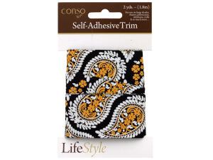 Wholesale: Conso 2 yards paisley band self adhesive trim