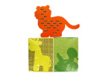Weaving safari animal mats, set of 12