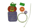 Beaded Christian Pumpkin Key Chain Craft Kit