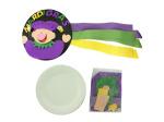 Mardi Gras Tambourine Paper Plate Craft Kit
