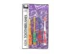 Animal kid's toothbrushes, pack of 4