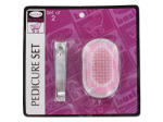 Pedicure set, 2 pieces, clippers and pumice