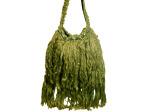 Handmade Over-the-Shoulder Olive Bag