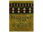 Morning Star Plaque