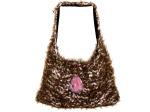 Hand Knit Brown/Pink Over-The-Shoulder Bag