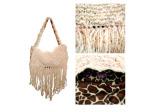 Cream Hand Knit Bag
