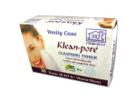 Cleansing wipes, green tea scent, box of 30