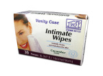 Intimate cleansing wipes, cucumber scent, pack of 30