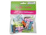 Miniature Colored Craft Clothespins