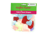 Bag fabric heart shapes