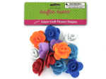 Foam craft flower shapes, package of 12