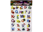 Alphabet window clings
