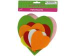 Felt heart shape cut-outs