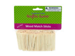 Crafting wood match sticks