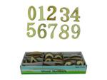 Wood numbers, 72 piece display