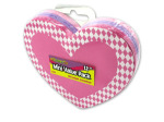 Foam heart sticker with checkered border